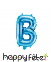 Ballon lettre bleu de 35 cm, image 2