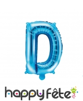 Ballon lettre bleu de 35 cm, image 4