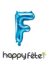 Ballon lettre bleu de 35 cm, image 6