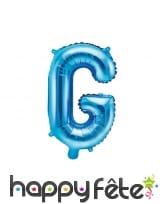 Ballon lettre bleu de 35 cm, image 7