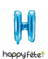 Ballon lettre bleu de 35 cm, image 8