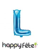 Ballon lettre bleu de 35 cm, image 12