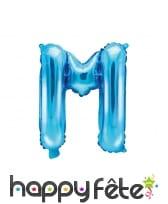 Ballon lettre bleu de 35 cm, image 13
