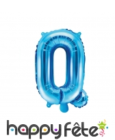 Ballon lettre bleu de 35 cm, image 17