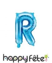 Ballon lettre bleu de 35 cm, image 18
