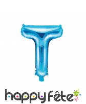 Ballon lettre bleu de 35 cm, image 20