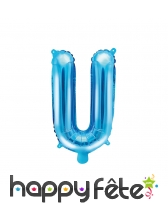 Ballon lettre bleu de 35 cm, image 21