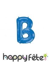 Ballon lettre bleue de 81 cm, image 2