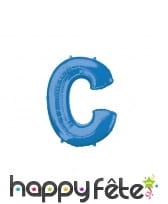 Ballon lettre bleue de 81 cm, image 3