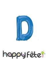 Ballon lettre bleue de 81 cm, image 4