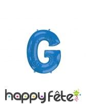 Ballon lettre bleue de 81 cm, image 7