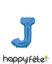 Ballon lettre bleue de 81 cm, image 10