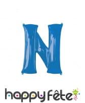 Ballon lettre bleue de 81 cm, image 14
