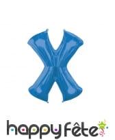 Ballon lettre bleue de 81 cm, image 24