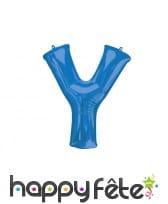 Ballon lettre bleue de 81 cm, image 25