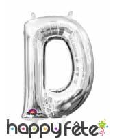 Ballon lettre en aluminium argenté de 33 cm, image 4
