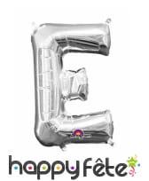Ballon lettre en aluminium argenté de 33 cm, image 5