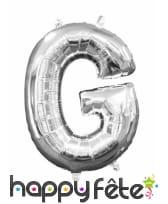 Ballon lettre en aluminium argenté de 33 cm, image 7