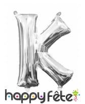 Ballon lettre en aluminium argenté de 33 cm, image 11