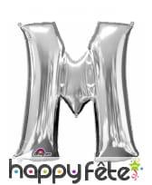 Ballon lettre en aluminium argenté de 33 cm, image 13