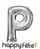 Ballon lettre en aluminium argenté de 33 cm, image 16