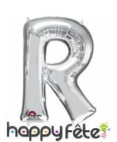 Ballon lettre en aluminium argenté de 33 cm, image 18