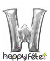 Ballon lettre en aluminium argenté de 33 cm, image 23