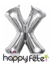 Ballon lettre en aluminium argenté de 33 cm, image 24