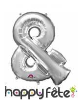 Ballon lettre en aluminium argenté de 33 cm, image 28