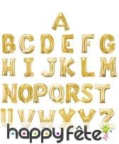 Ballon lettre en aluminium doré de 33 cm