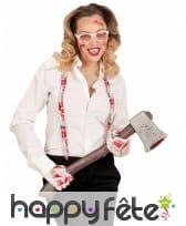 Bretelles, lunettes et gants blancs ensanglantés, image 1