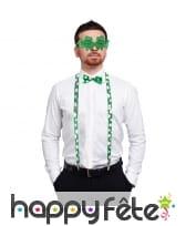 Bretelles, lunettes et noeud St Patrick