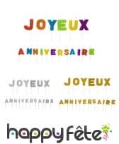 Bougies lettre joyeux anniversaire sur pique