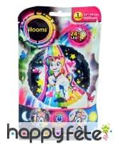 Ballon licorne LED lumineux de 50cm