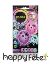 Ballons lumineux motifs étoilés