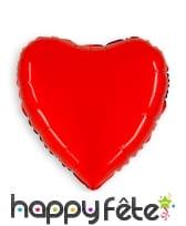 Ballon métalisé coeur rouge, 90cm