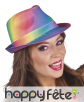 Borsalino multicolore dégradé