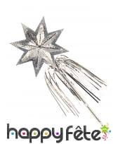 Baguette magique en forme d'étoile argentée, 45 cm