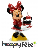 Bougie Minnie en 3D de 9cm