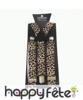 Bretelles motifs léopard