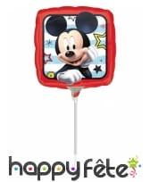 Ballon Mickey Mouse carré de 23 cm