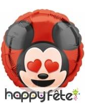 Ballon Mickey Mouse émoticone de 43cm