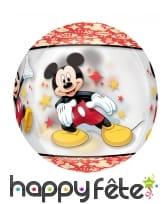Ballon Mickey Mouse rond, 38 x 40 cm