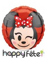 Ballon Minnie Mouse émoticone de 43cm