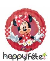 Ballon Minnie Mouse rond en aluminium