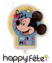 Bougie Mickey Mouse bleu de 7,5 cm
