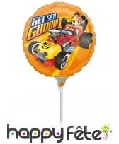 Ballon Mickey Roadster de 23cm sur tige