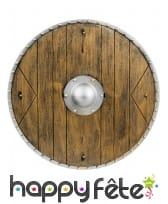 Bouclier médiéval style bois de 40cm
