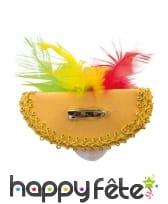 Broche masque vénitien pour cheveux de 9cm, luxe, image 1