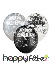 Ballons nombre anniversaire noir gris blanc, image 9